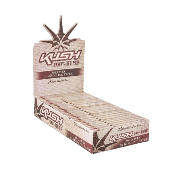KUSH HEMP ROLLING PAPER 1 1/4 Size - 25 in Box-Tobacco Paper-fourseasons-trade