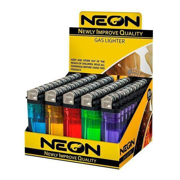 NEON NEWLY IMPROVE QUALITY GAS LIGHTER - 50 IN BOX-Lighter-fourseasons-trade
