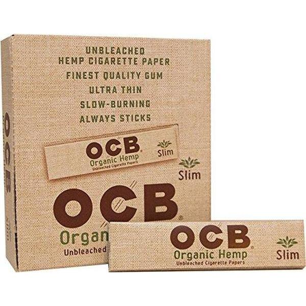 OCB Organic Hemp Rolling Papers Slilm Size - Full Box (24 Books)-Tobacco Paper-fourseasons-trade