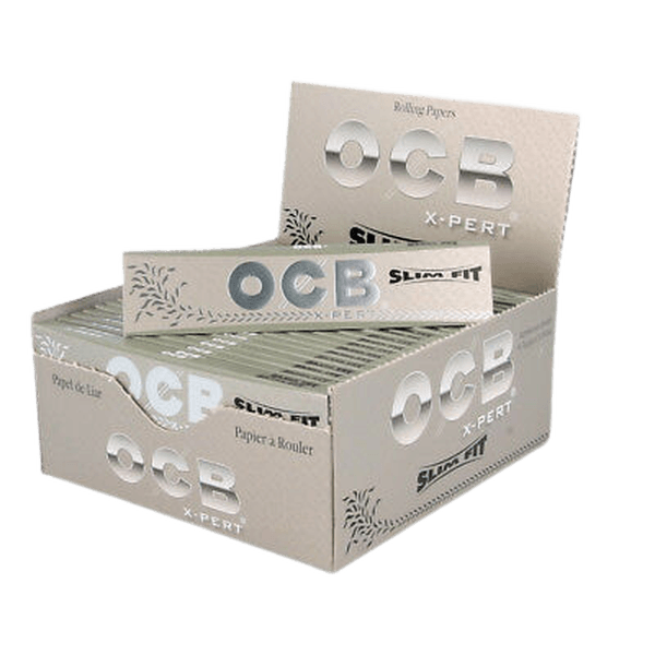 OCB Slim Fit X-Pert 50 Pack Extra Ultra Thin Premium Cigarette Rolling Paper-Tobacco Paper-fourseasons-trade
