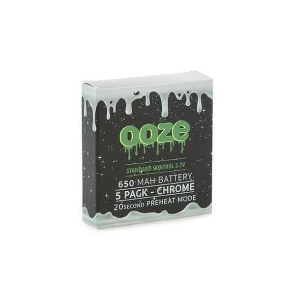 OOZE 650 MAH 3.7V BATTERY WITH 20 SECOND PREHEAT SYSTEM - PACK OF 5-510 Batteries-fourseasons-trade