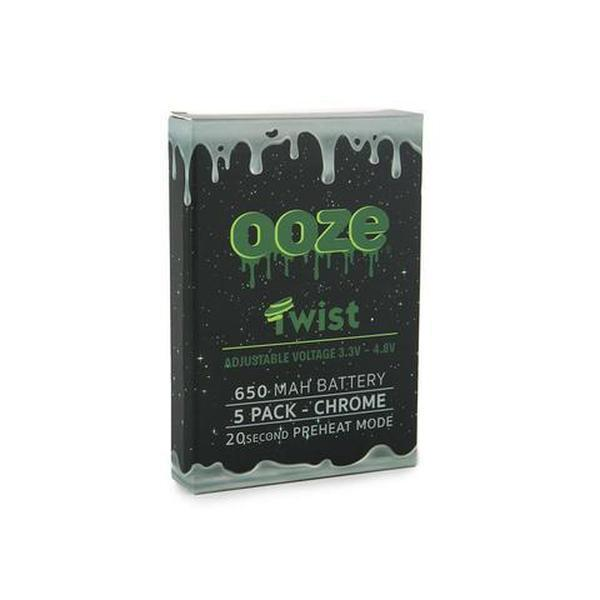 OOZE 650 MAH TWIST BATTERY 3.3V - 4.8V WITH 20 SECOND PREHEAT MODE - PACK OF 5-510 Batteries-fourseasons-trade