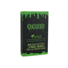 OOZE 900 MAH TWIST BATTERY 3.3V - 4.8V WITH 20 SECOND PREHEAT MODE - PACK OF 5-510 Batteries-fourseasons-trade