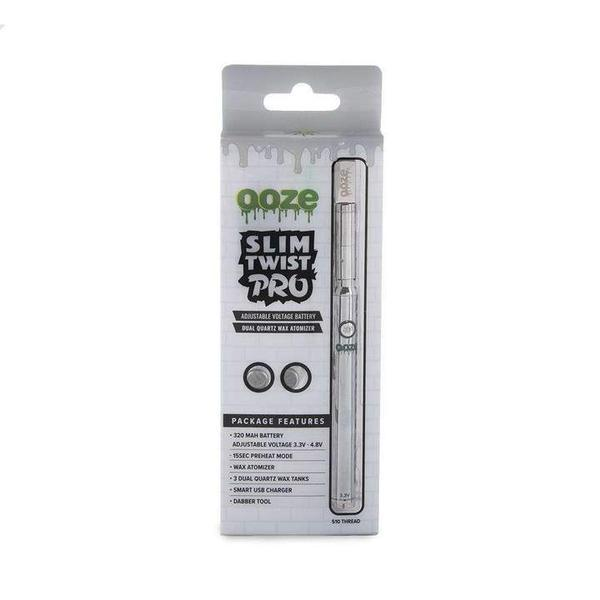 OOZE SLIM TWIST PRO 320MAH VV PEN VAPORIZER STARTER KIT-510 Batteries-fourseasons-trade