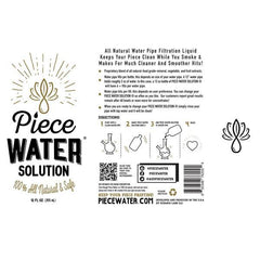 PIECE WATER SOLUTION 12OZ-Water Pipe-fourseasons-trade