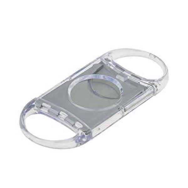 Plastic Clear Cigar Cutter Double Blade Tobacco Cutter Knife - EACH PIECE PRICE-SMOKE ACCESSORIES-fourseasons-trade