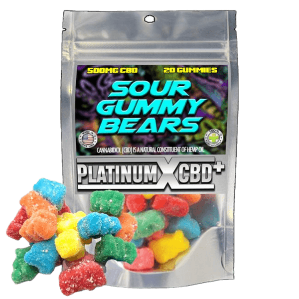 PLATINUM X CBD GUMMIES - 500MG ASSORTED DESIGN-CBD Gummies-fourseasons-trade