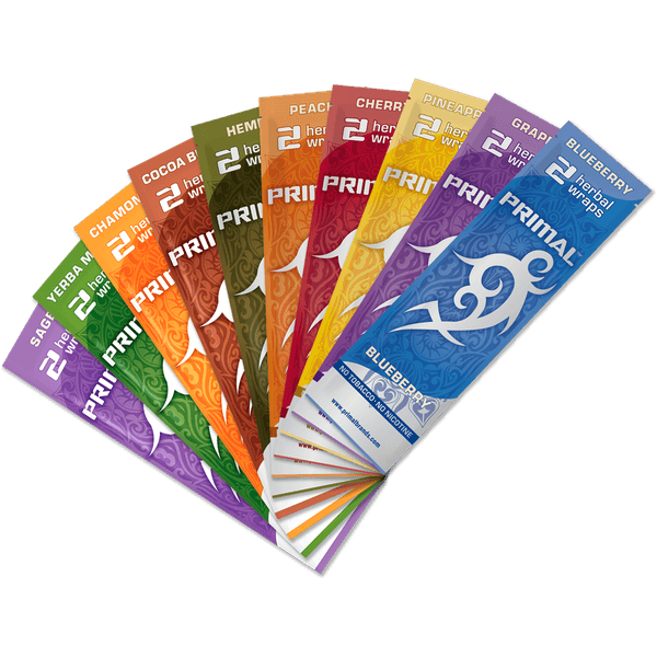 Primal Herbal Wraps Variety Pack Tobacco & Nicotine Free - 25 Pouches in Box / 2 Herbal Wraps-TOBACCO WRAPS-fourseasons-trade