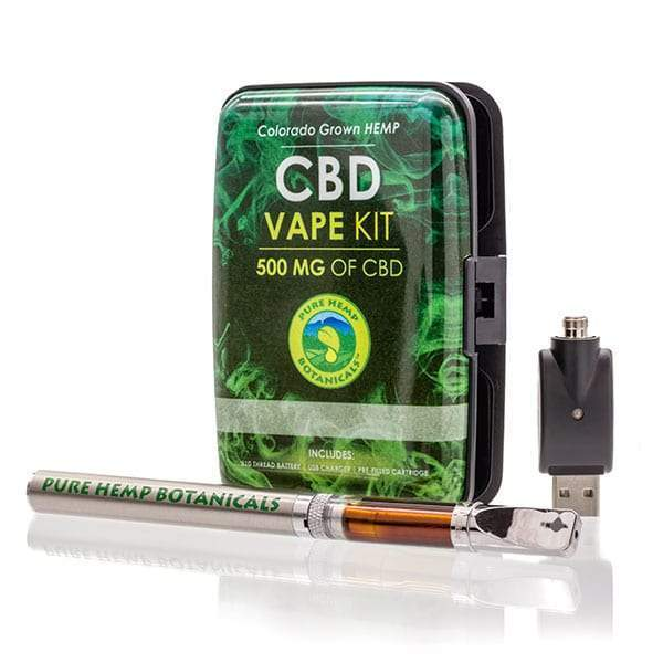 Pure Hemp Botanicals CBD Oil Top Flow Vape Kit 250mg 500mg-CBD Vape-fourseasons-trade