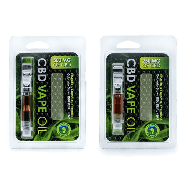 Pure Hemp CBD Oil Top Flow Vape Cartridge - 250mg 500mg-CBD Vape-fourseasons-trade