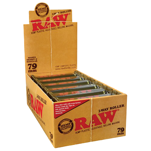 RAW Roller Eco Hemp Plastic 2 Way Adjustable 70mm,79mm And 110mm Rolling Machine - Pack of 12