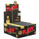 RAW BLACK King Size SLIM CLASSIC ROLLING PAPER 32 Leaves Per Pack - 50 Packs Per Box