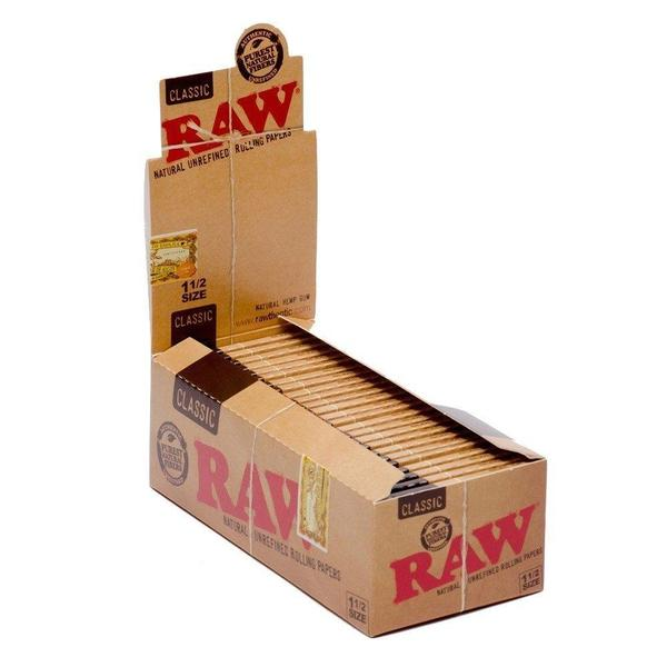 Raw Classic 1 1/2 Size Rolling Paper Full Box of 25 Packs-Tobacco Paper-fourseasons-trade