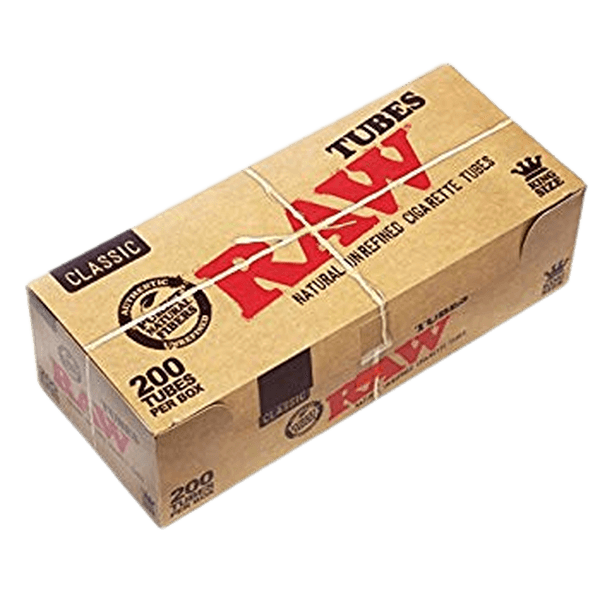 RAW Classic Natural Unrefined Rolling Paper - Pre Rolled Tubes (Regular) - 200 IN BOX-Tobacco Paper-fourseasons-trade