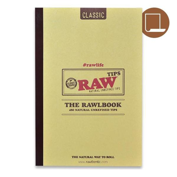 RAW Classic The Rawlbook 480 Count Book of Natural Unrefined Rolling Tips-SMOKE ACCESSORIES-fourseasons-trade