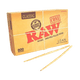 RAW Classic Unrefined Rolling Pre-Rolled Cone LEAN 110mm / 4.3 inches (Tip 40mm) - 800 PER BOX