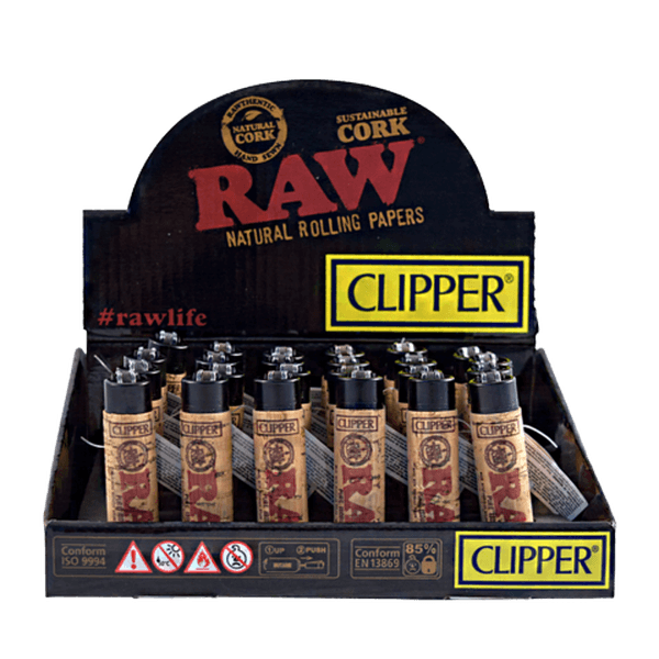 RAW CLIPPER LIGHTER SUSTAINABLE CORK RAW - 30 IN DISPLAY-Lighter-fourseasons-trade