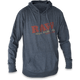 RAW HEATHER GRAY- POCKET LETTERING LIGHT WT HOODIE XL