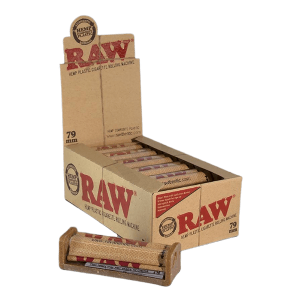 Raw Hemp Plastic Cigarette Rolling Machine 79mm And 110mm - 12 Rollers in Box-Tobacco Paper-fourseasons-trade