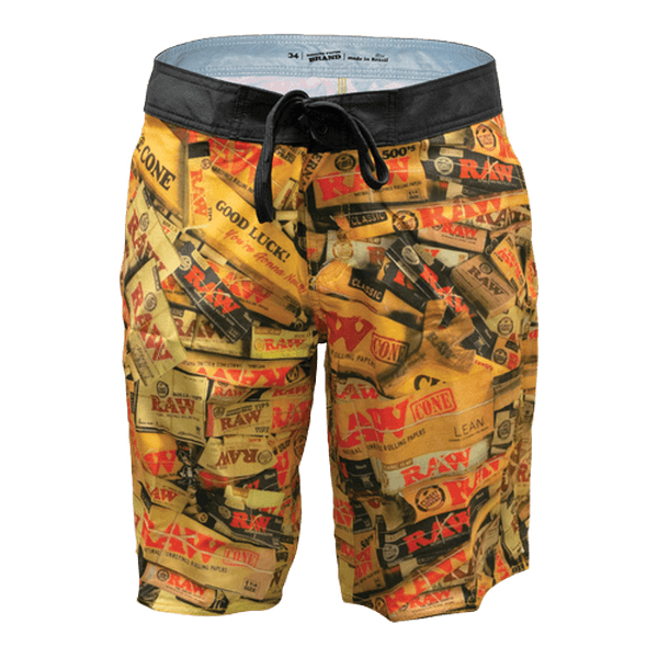 Raw Life Brazil Board Shorts-Novelty Item-fourseasons-trade