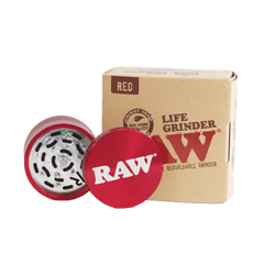 Raw Life Grinder Modular Rebuild-able Grinder Red 1ct - Red Color-Metal Grinder-fourseasons-trade