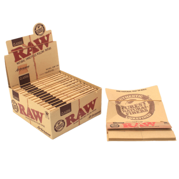 RAW Organic Artesano Papers King Size - 15 in Packs/Full Box-Tobacco Paper-fourseasons-trade