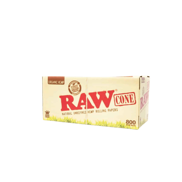 RAW PRE-ROLLED CONE King Size ORGANIC BULK - 800 in BOX-Tobacco Cones-fourseasons-trade