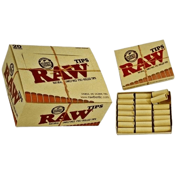 RAW PRE-ROLLED TIPS - 20 in BOX-Tips-fourseasons-trade