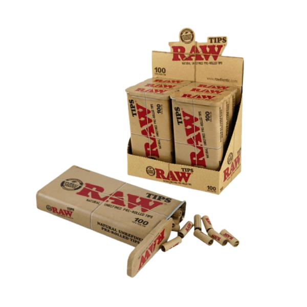 RAW PRE ROLLED TIPS IN TIN CONTAINER - 100 TIPS PER TIN-Tips-fourseasons-trade