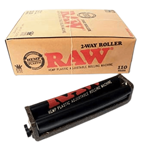 RAW Roller Eco Hemp Plastic 2 Way Adjustable 70mm And 110mm Rolling Machine - Pack of 12-Tobacco Paper-fourseasons-trade