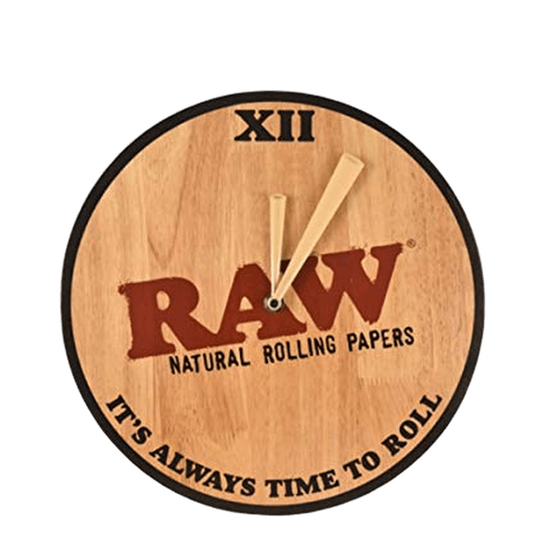 Raw Rolling Paper Limited Edition Wooden Wall Clock Includes-SMOKE ACCESSORIES-fourseasons-trade