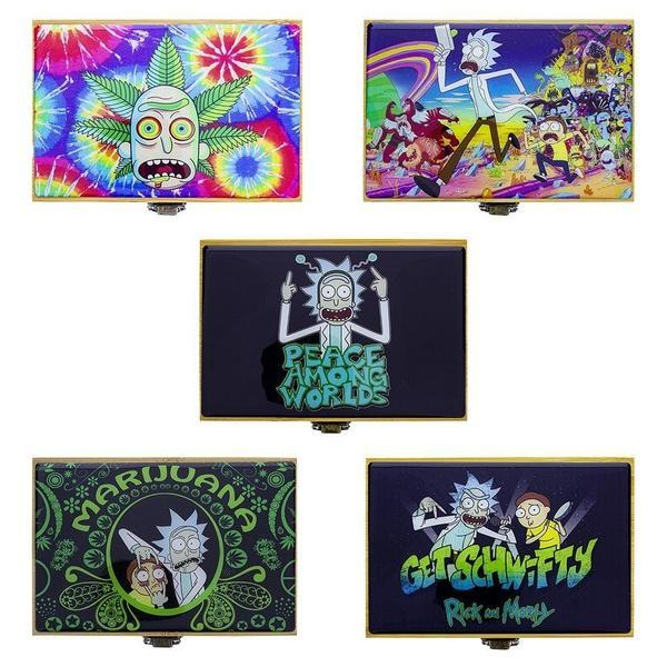 RICK & MORTY STASH BOX WITH JAR & GRINDER - SMALL & MEDIUM-Box With Jar & Grinder-fourseasons-trade