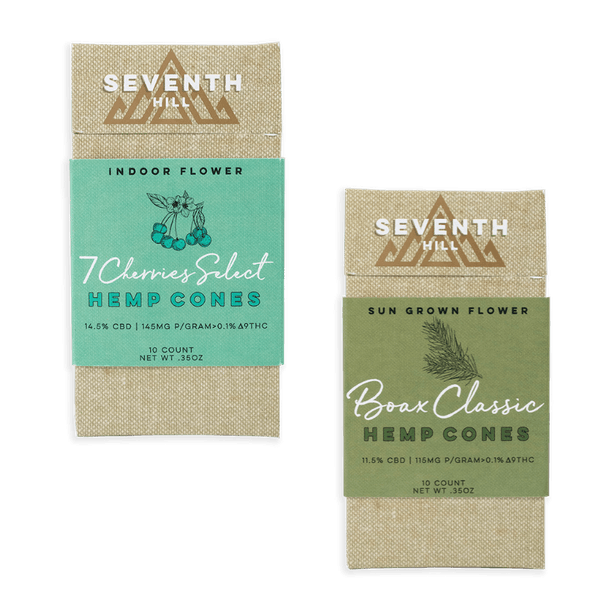 Seventh Hill CBD Sun Grown Flower Hemp Cones - 115mg - 10 Count-CBD Flowers-fourseasons-trade