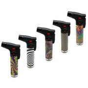 SKY TORCH PSYCHEDELIC DESIGN COLORED TORCH LIGHTERS-SK101PS-15CT DISPLAY BOX -PRICE PER PIECE