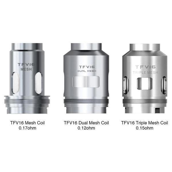 SMOK TFV16 TANK REPLACEMENT MESH COILS And DUAL MESH COILS - PACK OF 3-Vape Coils-fourseasons-trade