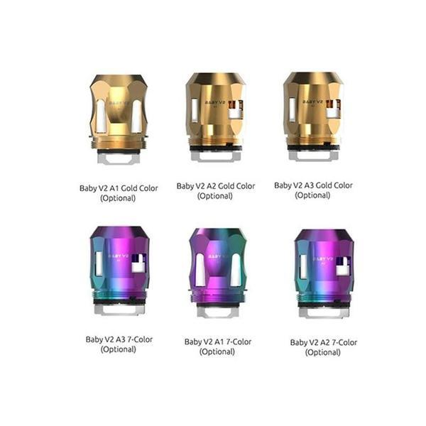 SMOK TFV8 BABY V2-A1 REPLACEMENT COILS COLOR EDITION- PACK OF 3-Vape Coils-fourseasons-trade