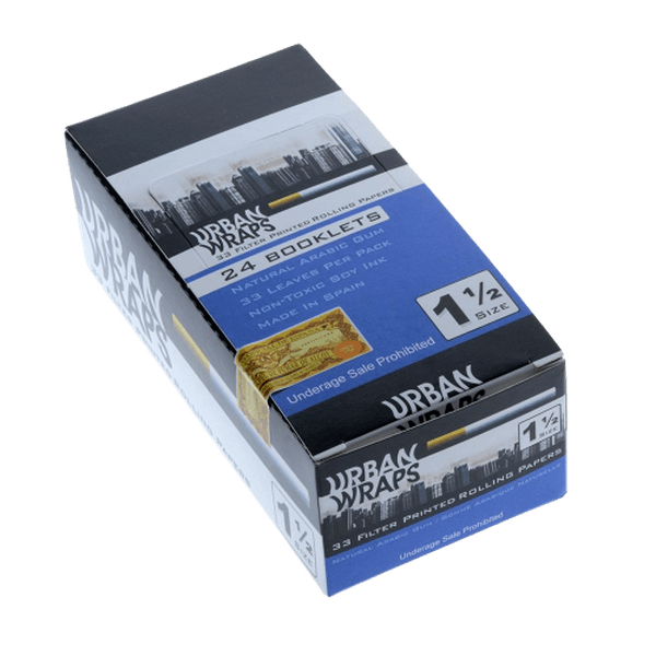 URBAN WRAP FILTER PRINTED 1 1/2 PAPER SIZE - 24 IN BOX-Tobacco Paper-fourseasons-trade