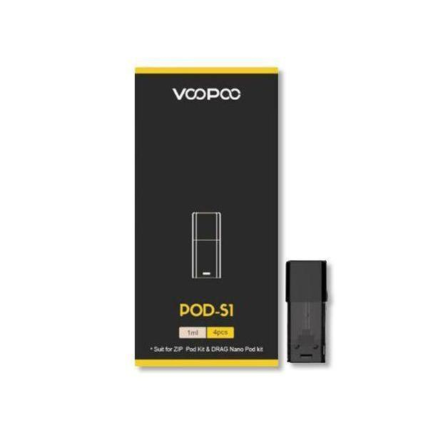 VOOPOO 1ML REFILLABLE REPLACEMENT POD-S1 - PACK OF 4-Replacement Pods-fourseasons-trade