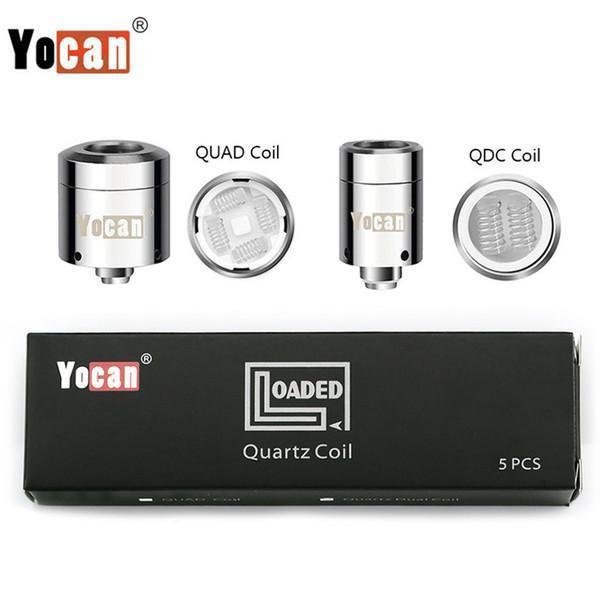YOCAN LOADED QUARTZ DUAL REPLACEMENT COILS - PACK OF 5-Vape Coils-fourseasons-trade