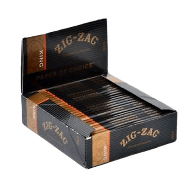 Zig Zag Black Box (32 Leaves Papers Per Pack) King Size Rolling - 24 in Box-Tobacco Paper-fourseasons-trade