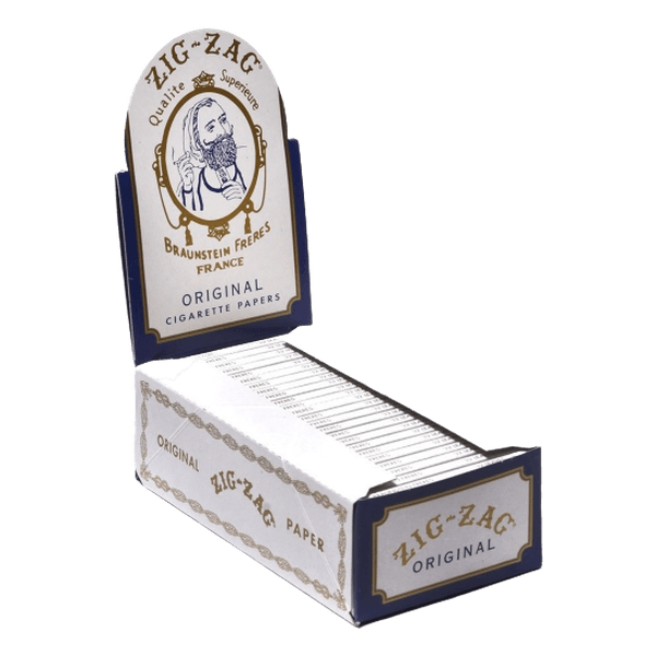 ZIG-ZAG ORIGINAL WHITE CIGARETTE PAPERS - 24 BOOKLETS-Tobacco Paper-fourseasons-trade