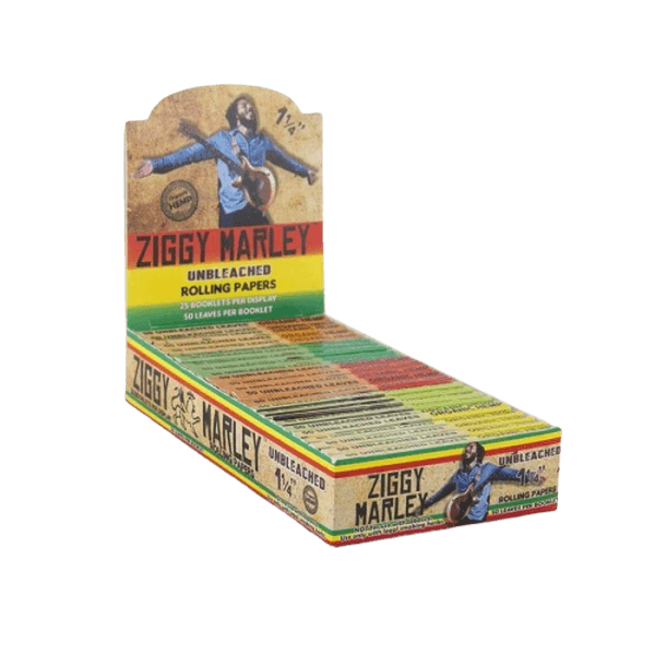 ZIGGY MARLEY UNBLEACHED ROLLING PAPERS 1 1/4 SIZE - 25 in BOX-Tobacco Paper-fourseasons-trade