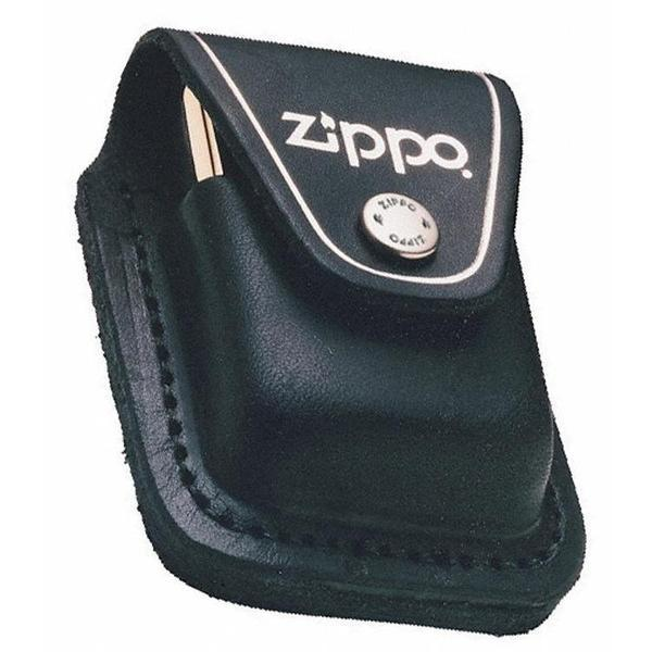 ZIPPO LIGHTER POUCH Pouch Press Stud Clip or LOOP Brown / Black-SMOKE ACCESSORIES-fourseasons-trade