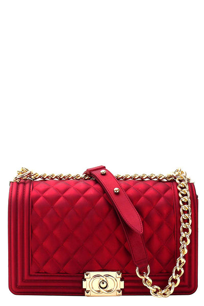 Luxury Silicone Quilted Crossbody Bag