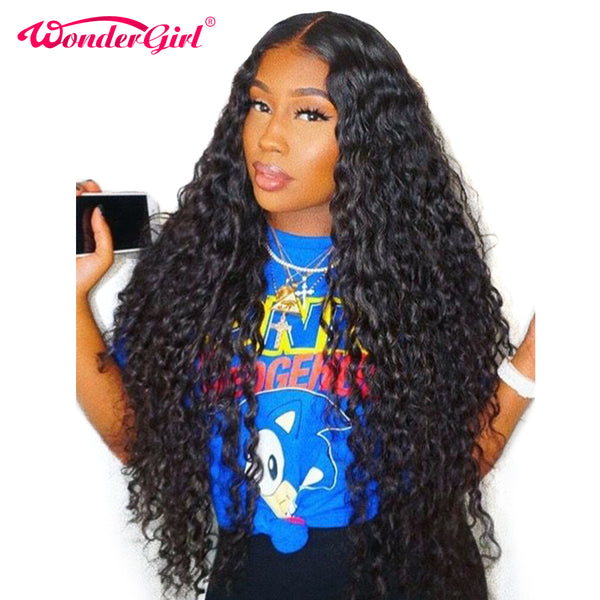 Pre Plucked Malaysian Glueless Water Wave Wig
