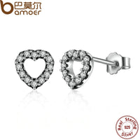 Sterling Silver Be My Valentine Heart Studs