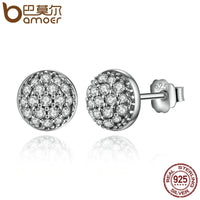 Sterling Silver Dazzling Droplets, Clear CZ Small Stud Earrings