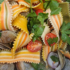 Handmade color Pasta Lingua sviolinate from Puglia/Italy - medEATerraneo - Pastificio del Colle