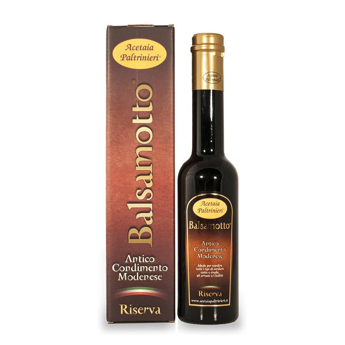 "Seasoning ""Balsamotto"" aged for 4 years from Modena/Italy"