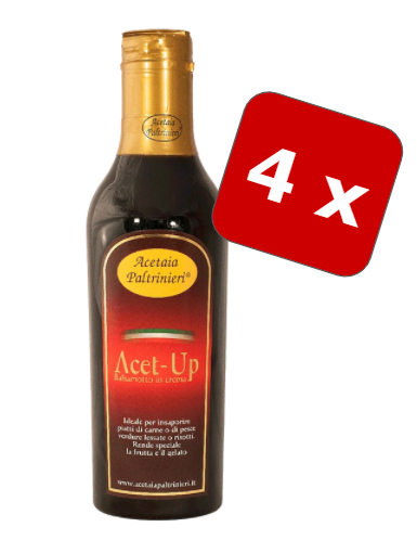 "4 Bottles of Worlds best Balsamic Cream ""Acet Up"" from Modena/Italy"